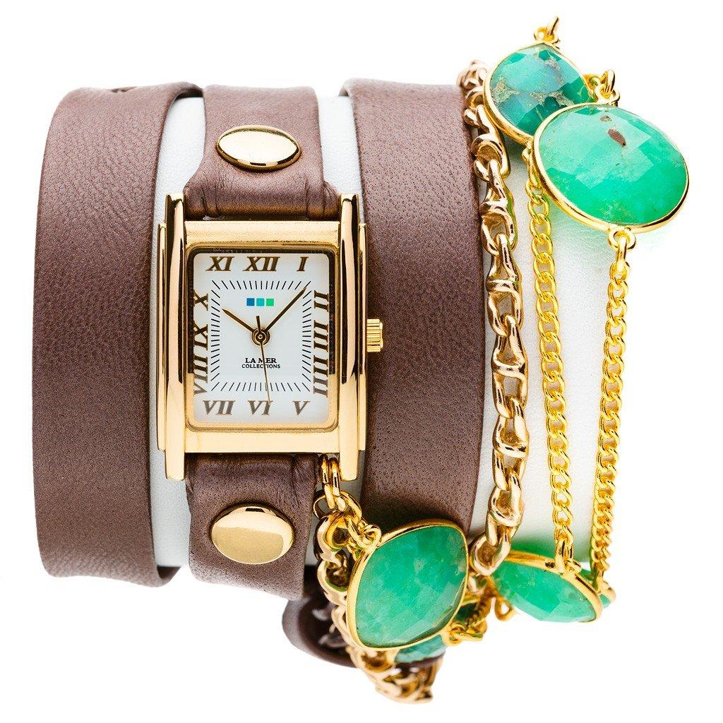 женские часы с длинным ремешком: прямоугольные с бусинками и золотом