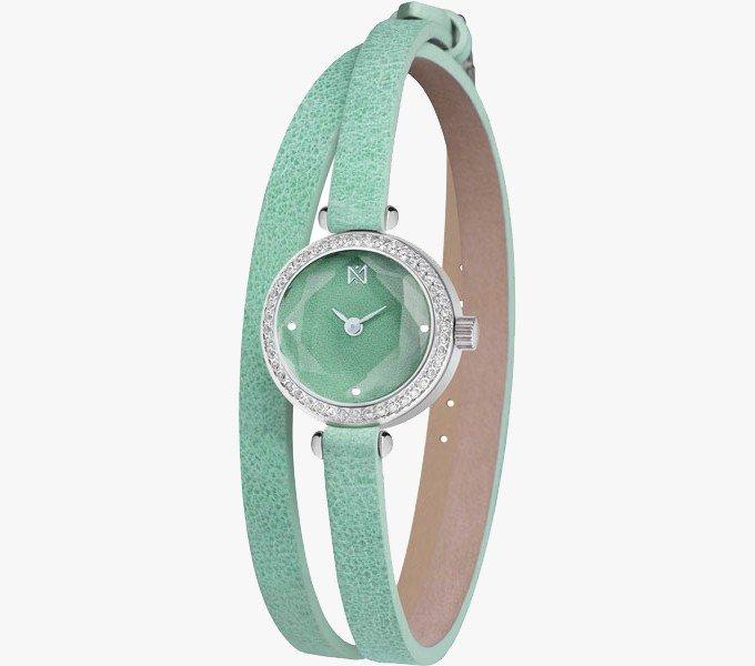 женские часы с длинным ремешком: круглые бирюзовые