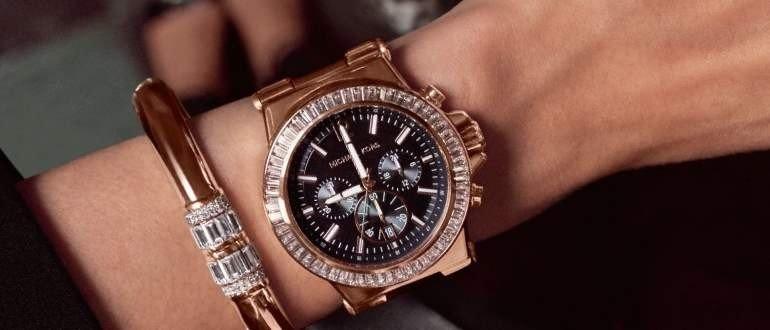 часы круглые коричневые массивные