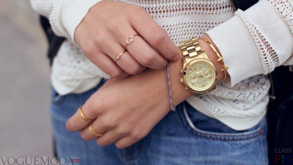 часы золотые унисекс