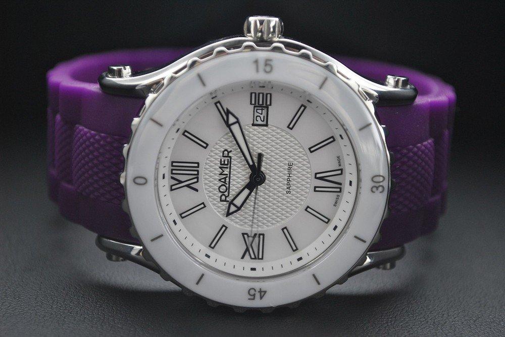 часы круглые белые спортивные