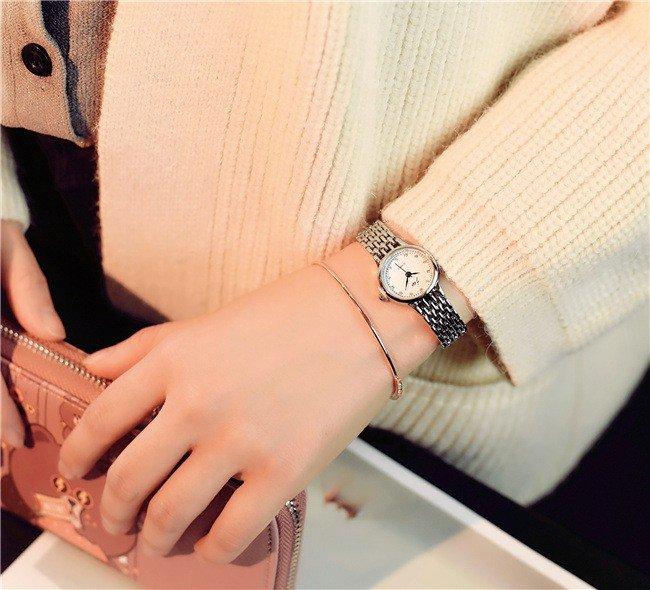 часы миниатюрные круглые серебро
