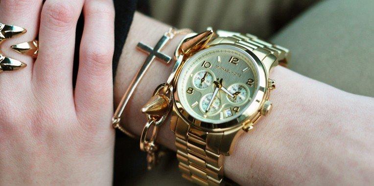 часы золотые декоративный ремень