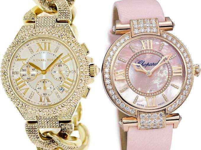 часы круыгле золото нежно розовые