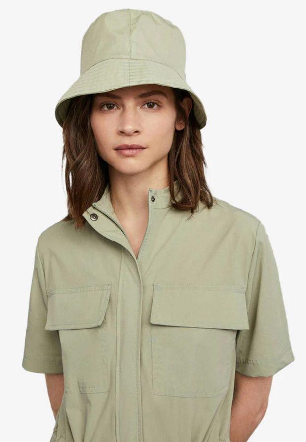 головные уборы 2020 2021: зеленая шляпа