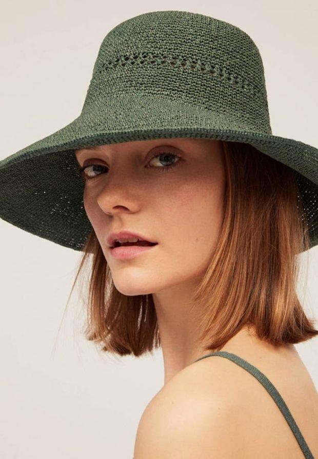 головные уборы 2019 2020: зеленая шляпа