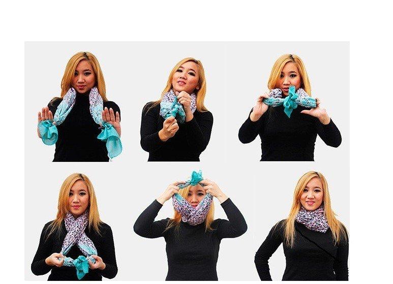 шарф платок цветной