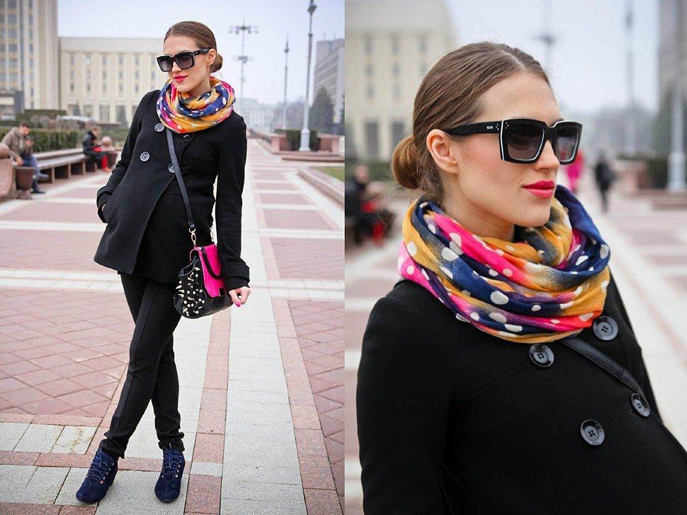 цветной шарф хомут