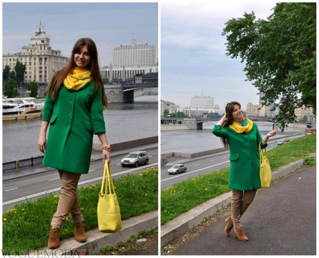 шарф хомут желтый