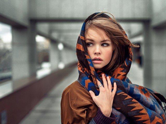 шарф-платок цветной