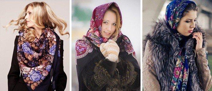 как красиво завязать шарф под пальто косынка цветная