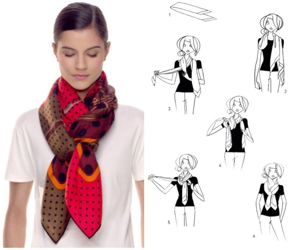 как красиво завязать шарф-платок