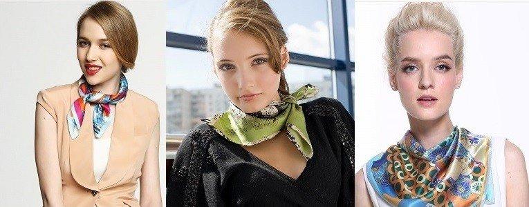 как красиво завязать шарф платок цветные