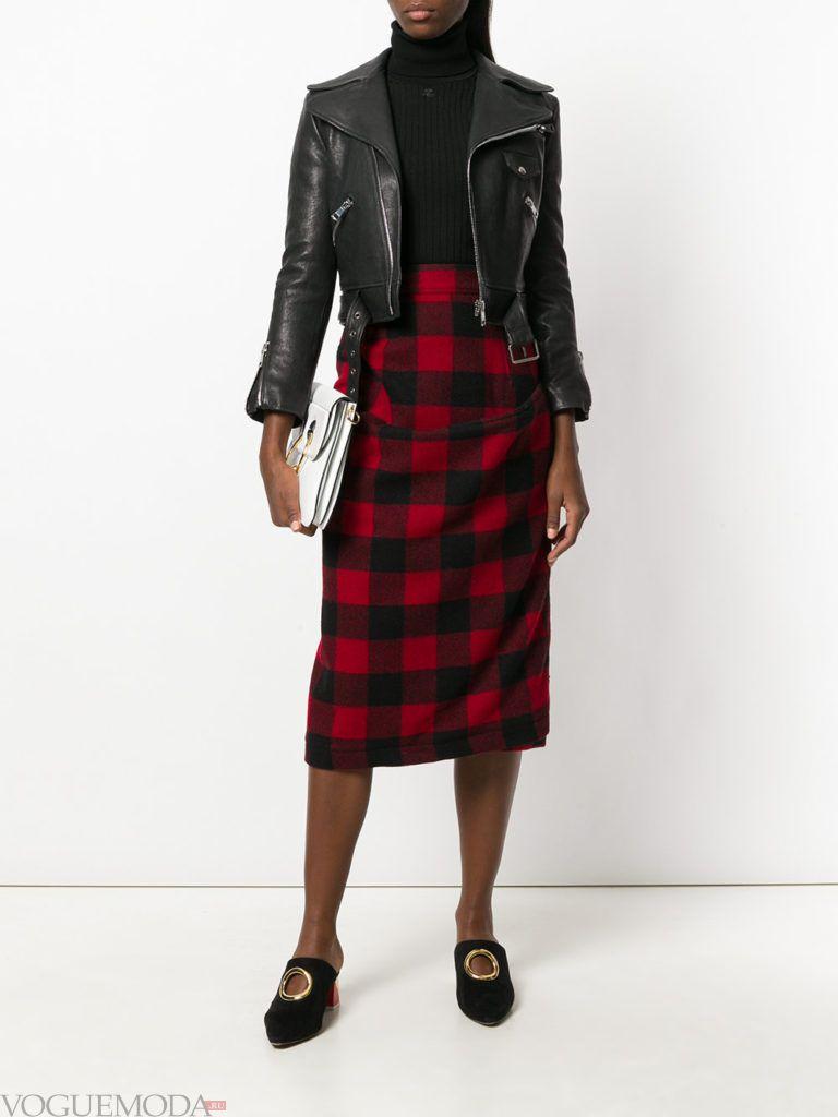 юбка- футляр «Шотландка»