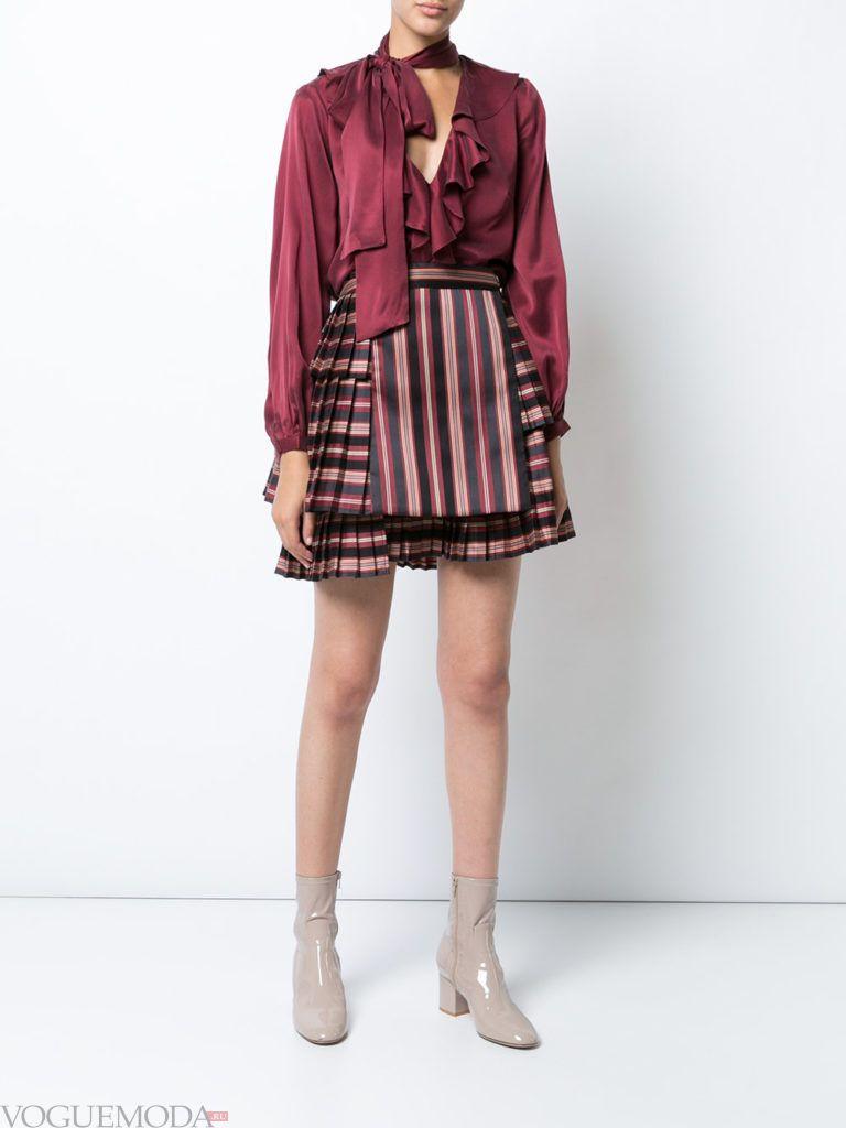 короткая юбка «Шотландка»