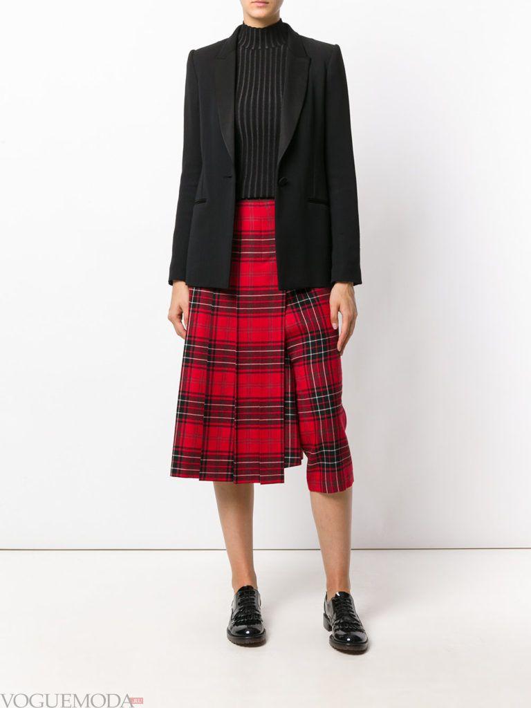 юбка «Шотландка» асимметричная
