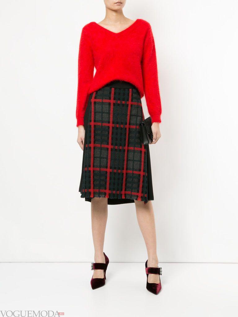 юбка «Шотландка» модная