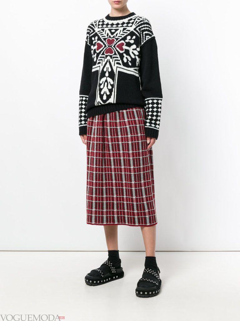 юбка «Шотландка» длинная