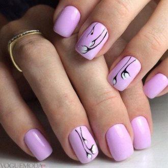 маникюр розовый
