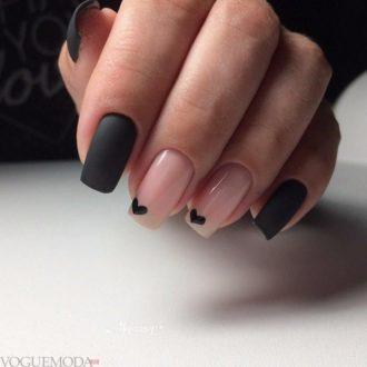 ногти  двухцветный