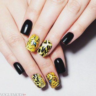 ногти леопардовые