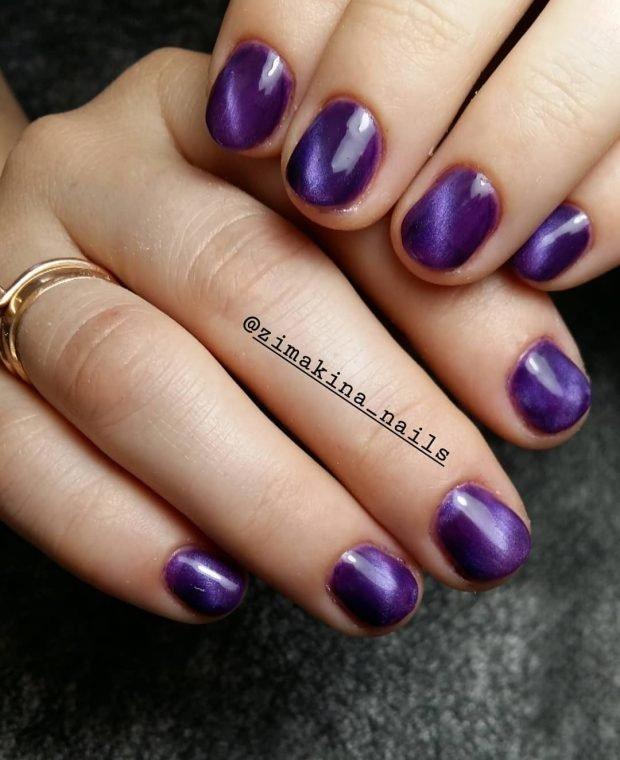 цвета фуксия на короткие ногти