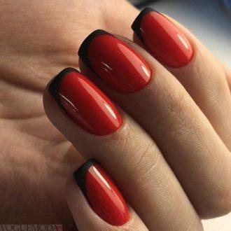 черный френч 2018 с красным фоном модные тенденции