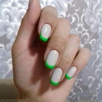 френч зеленого цвета