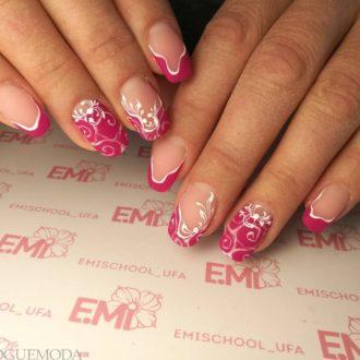 френч розового цвета