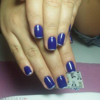 стальной френч синий