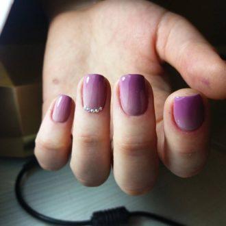 френч омбре фиолетовый