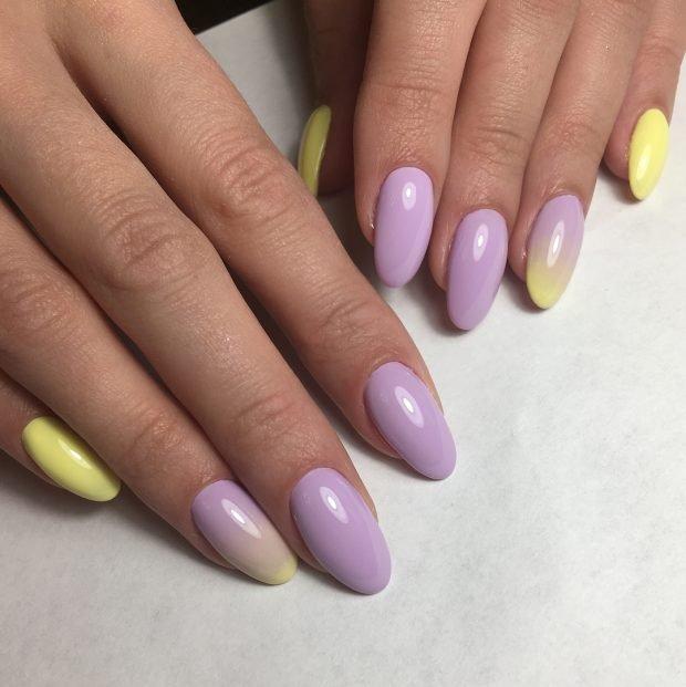 Маникюр весна-лето 2019: фиолетовый