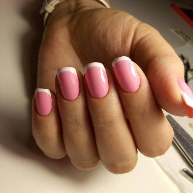 Маникюр весна-лето 2019: розовый френч