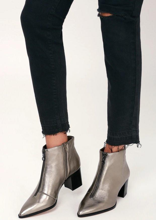 Модная обувь осень-зима 2020 2021: металлические на молнии