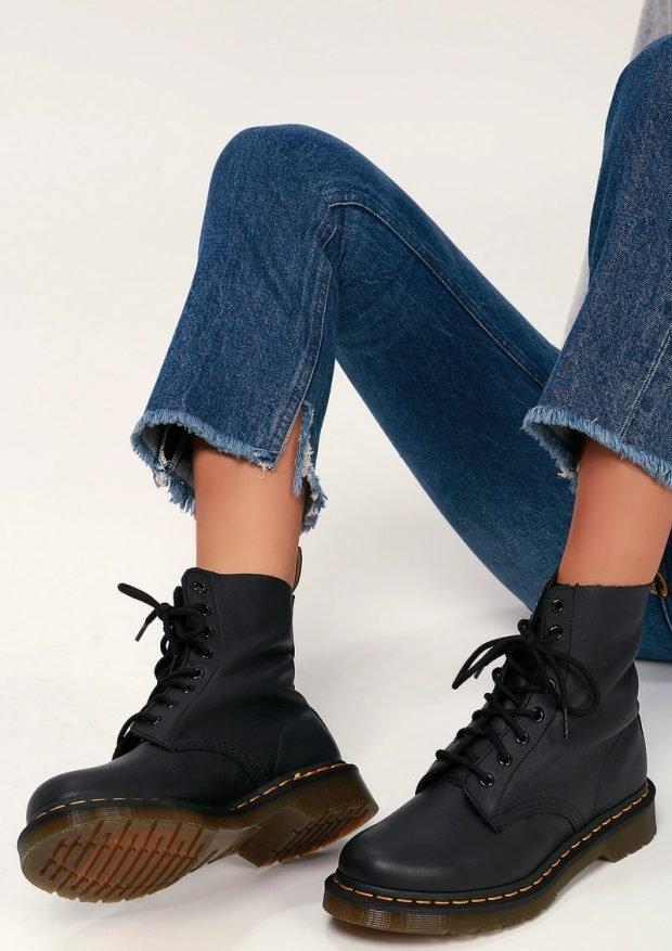 Модная обувь осень-зима 2021: толстая подошва на шнурках