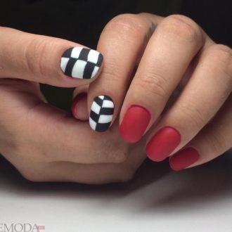 короткие ногти «matte» с изображением