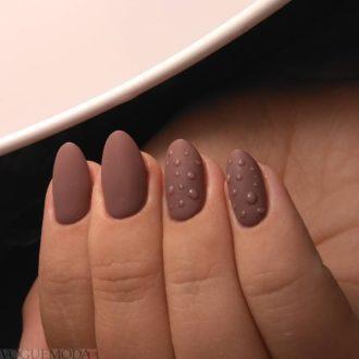 короткие ногти «matte» коричневые