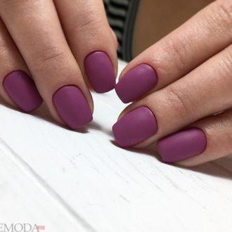 короткие ногти «matte» цветные