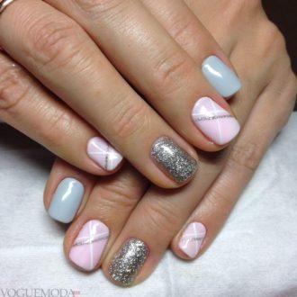 модные ногти с серебром