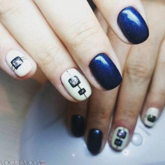 короткие цветные ногти