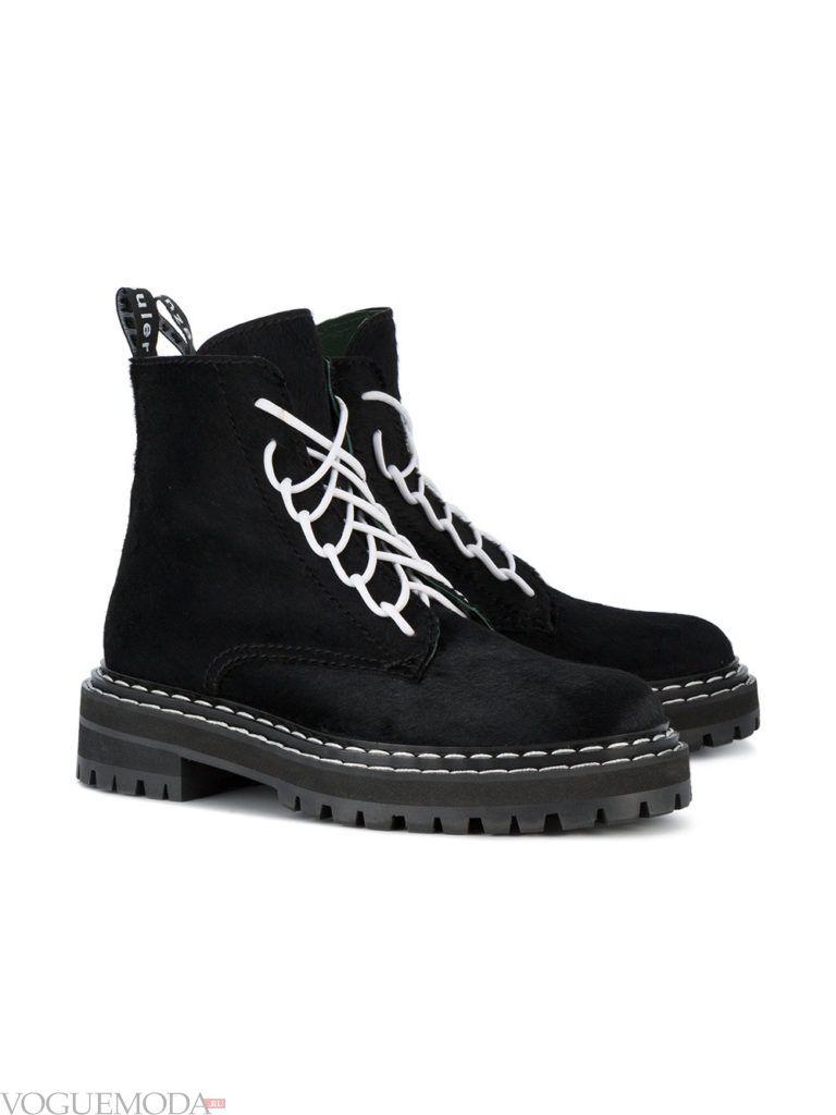 замшевые ботинки со шнуровкой