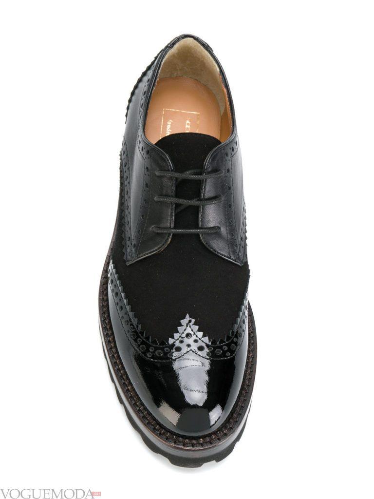 ботинки оксфорды черные