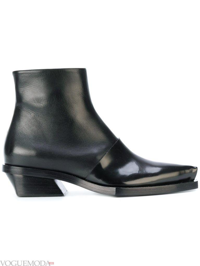 черные на низком каблуке