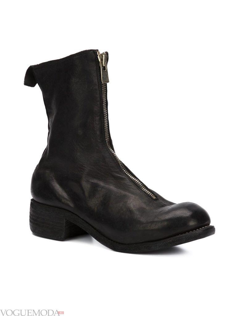 брутальные ботинки черные