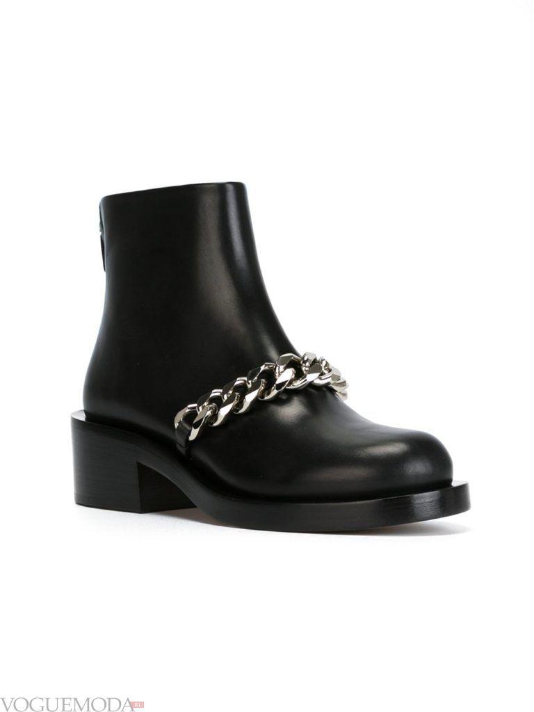 брутальные ботинки с декором