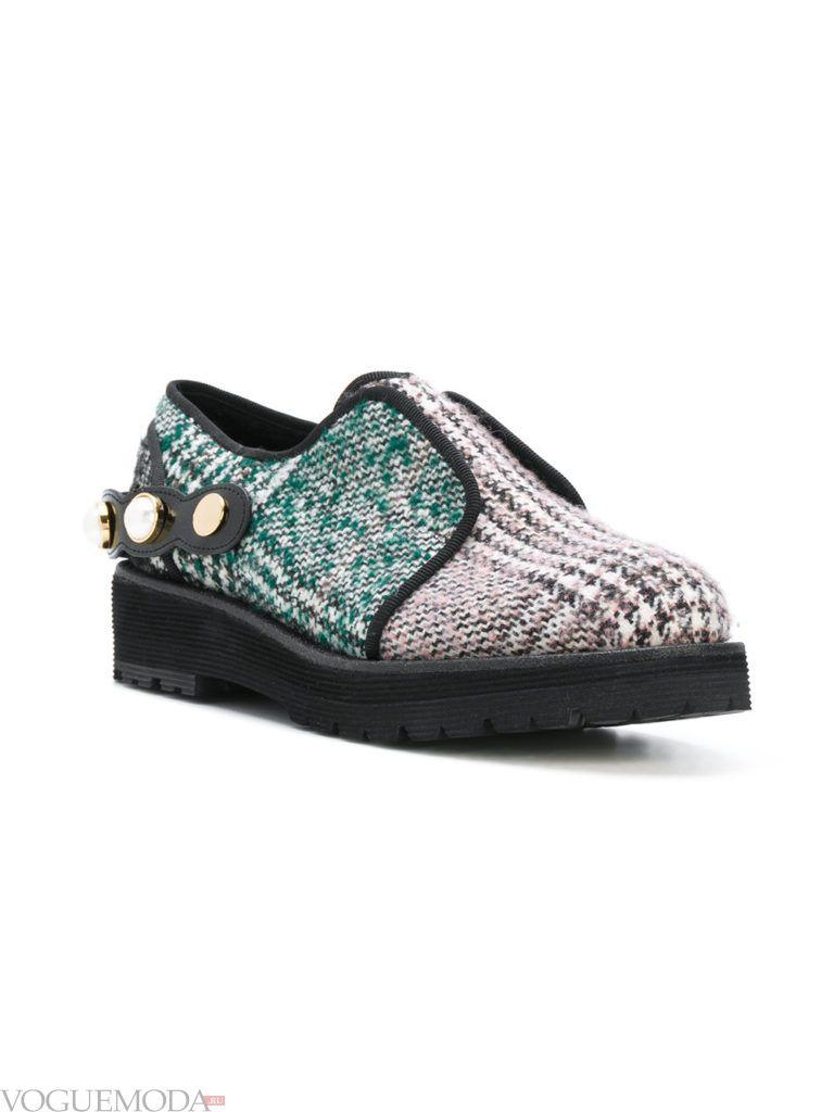 ботинки оксфорды с принтом