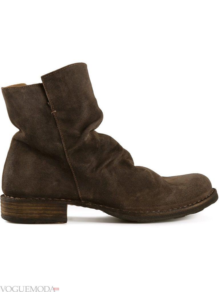 брутальные ботинки коричневые