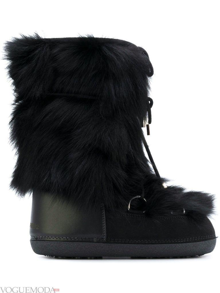 высокие ботинки с мехом