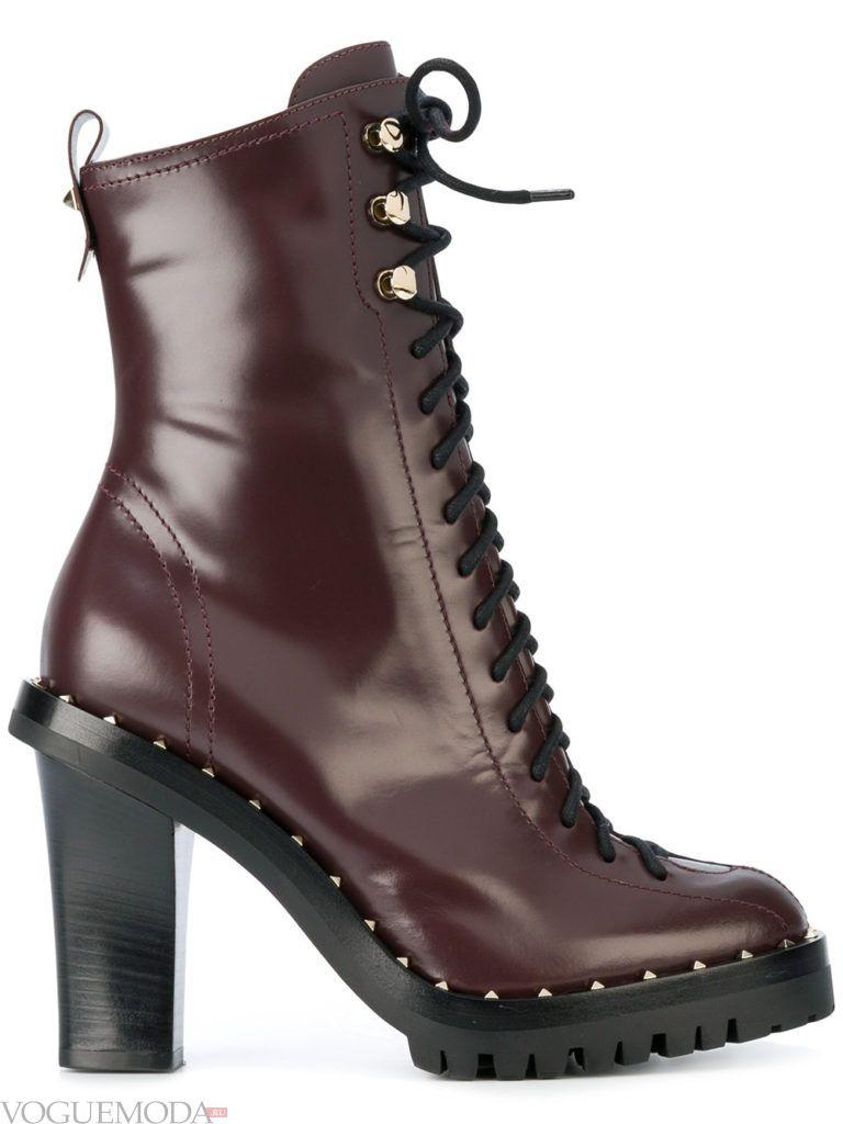 ботинки со шнуровкой цветные