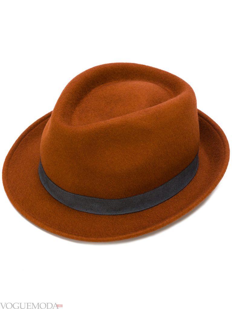 коричневая шляпа